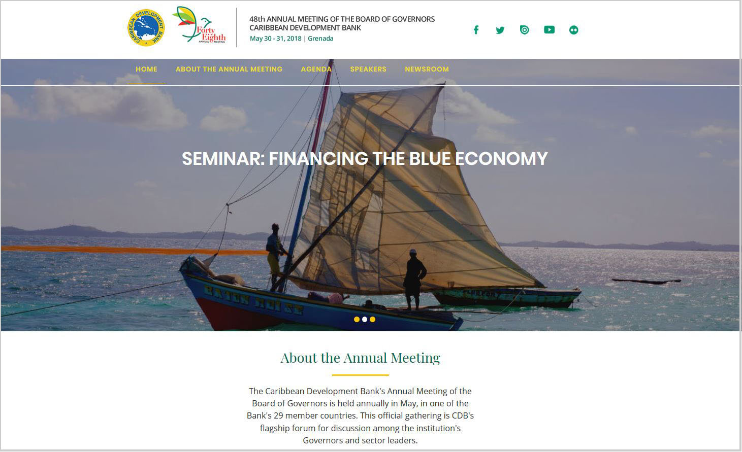 The dedicated Annual Meeting website, bog.caribank.org, and the complementing mobile app have been launched.