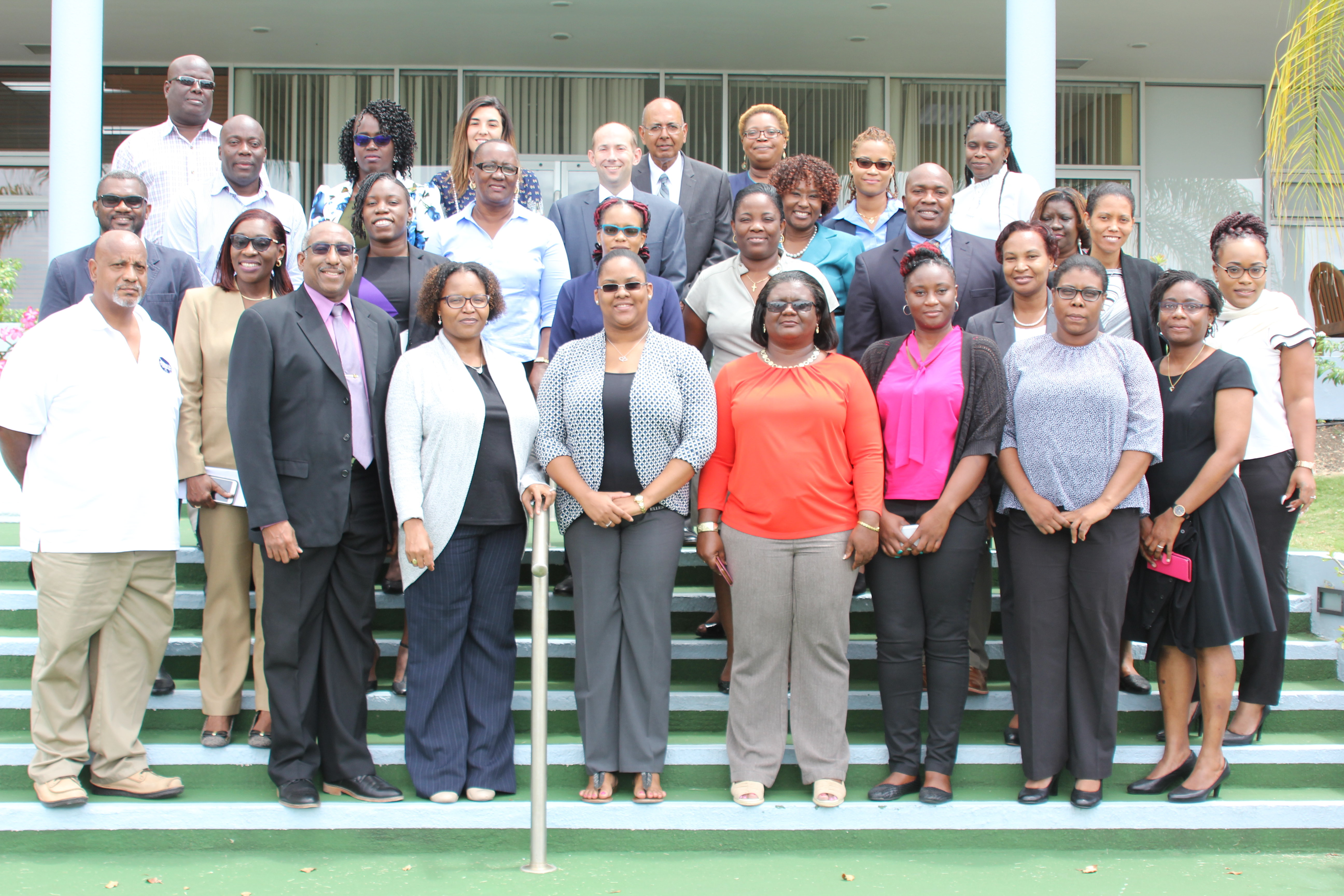 Representatives from from 13 of CDEMA's 18 Participating States met at CDB to discuss the new guidelines and procedures.