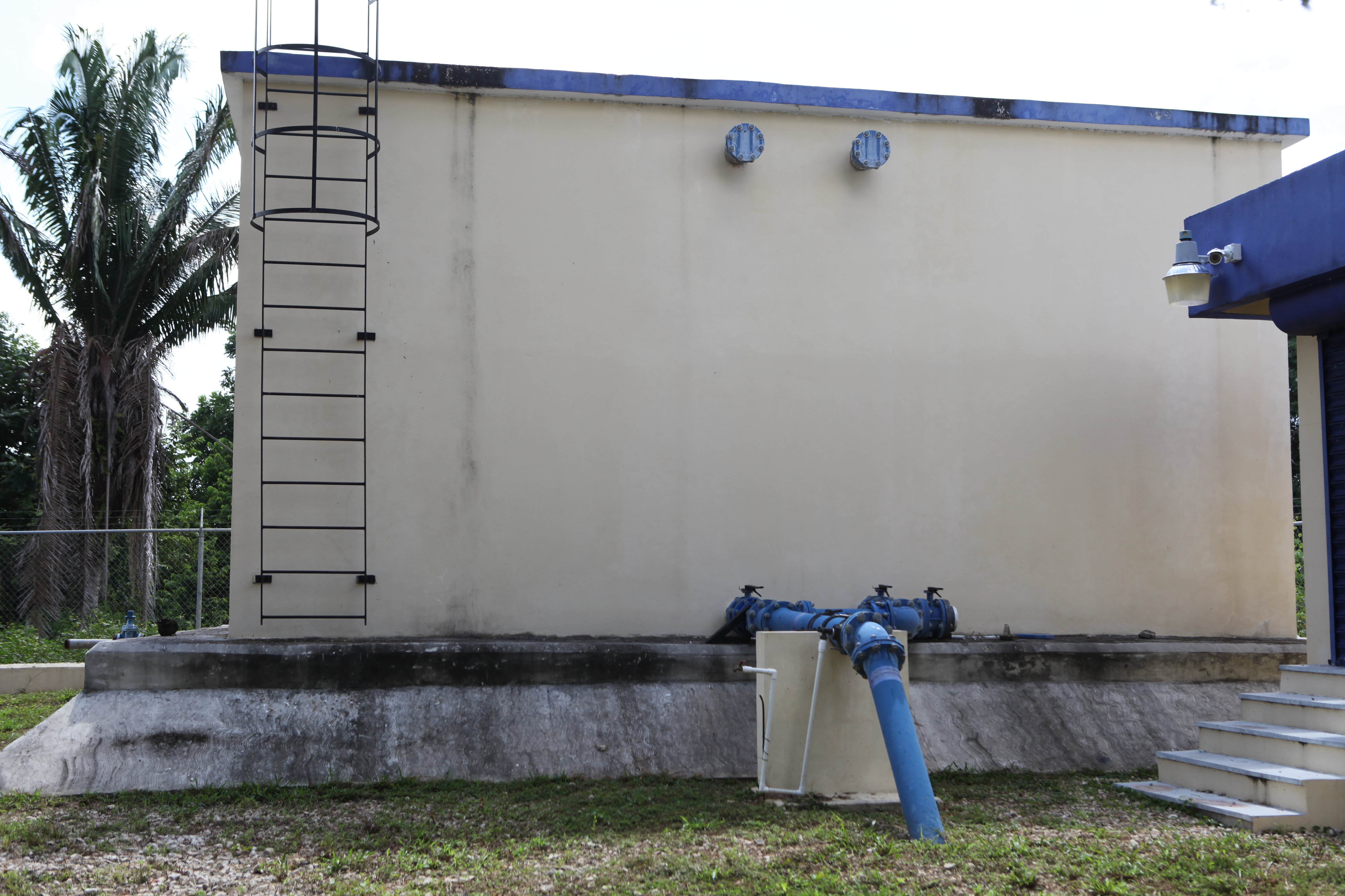 One of the water storage stations constructed as part of the project