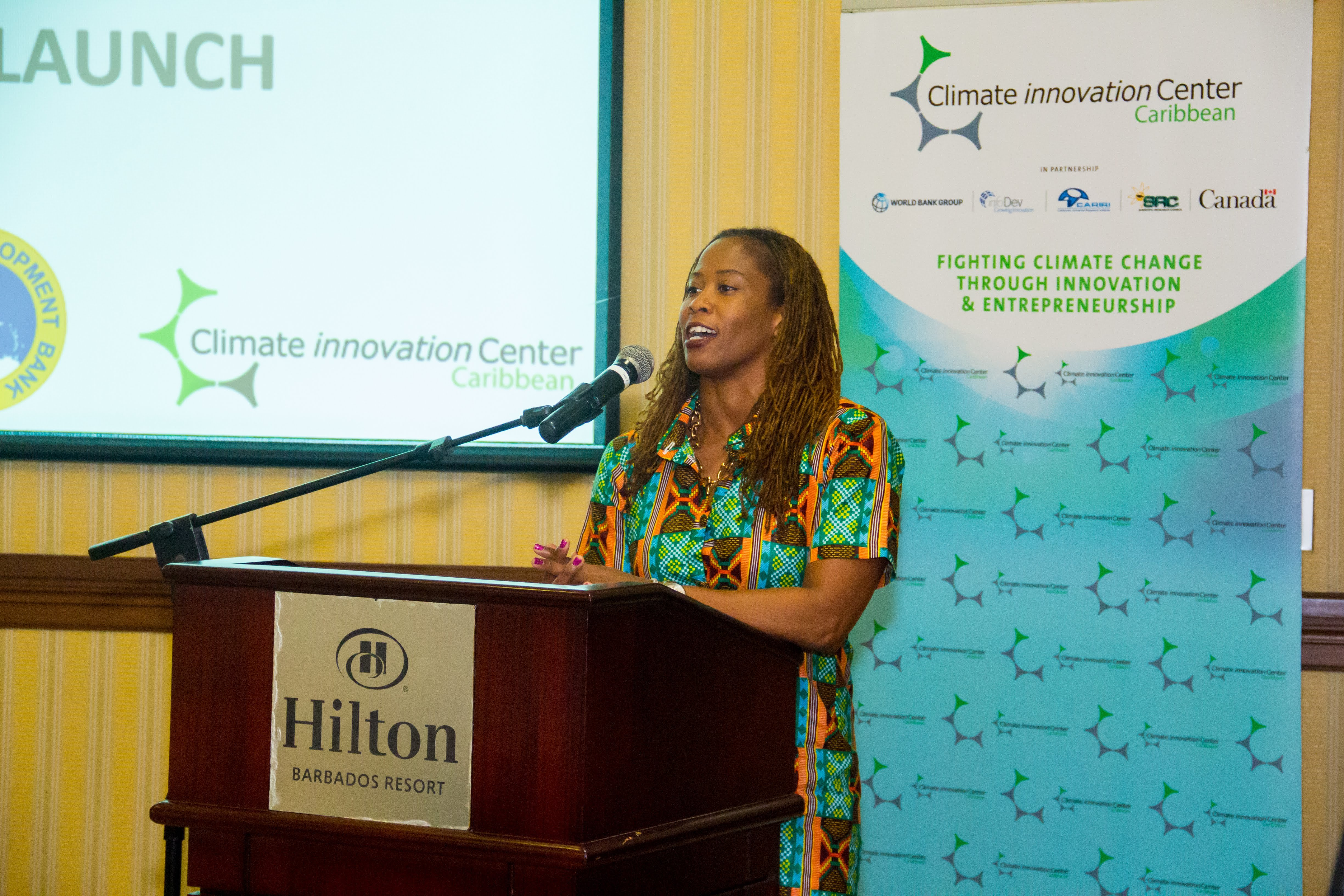 Lisa Harding, Coordinator, Micro, Small and Medium-Sized Enterprise, Technical Cooperation Division, CDB, believes supporting green tech entrepreneurs in the Region is critical to building climate resilience.