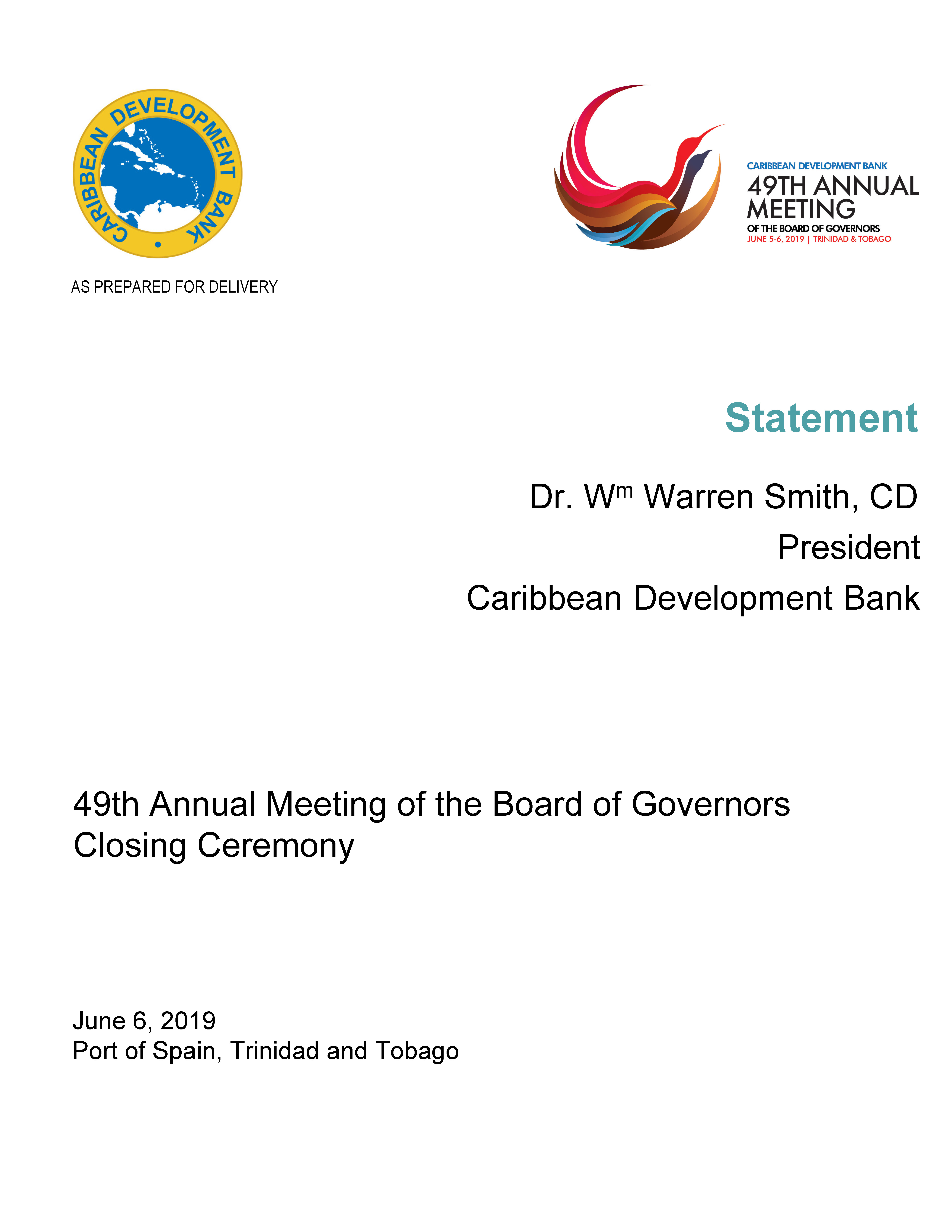 cover page of written statement