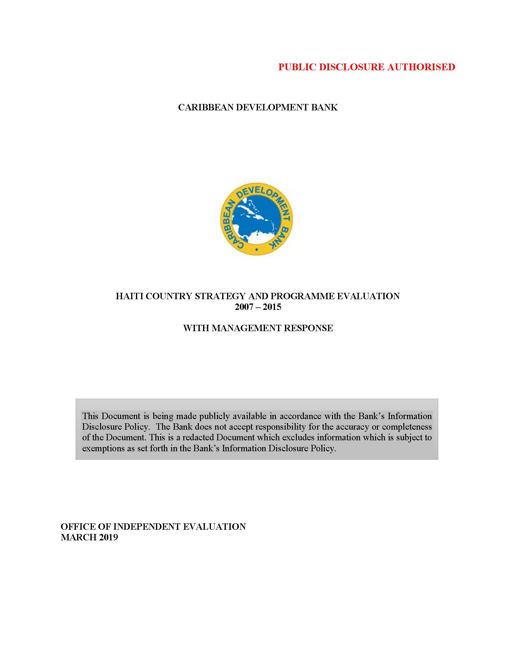 text-based cover featuring document title