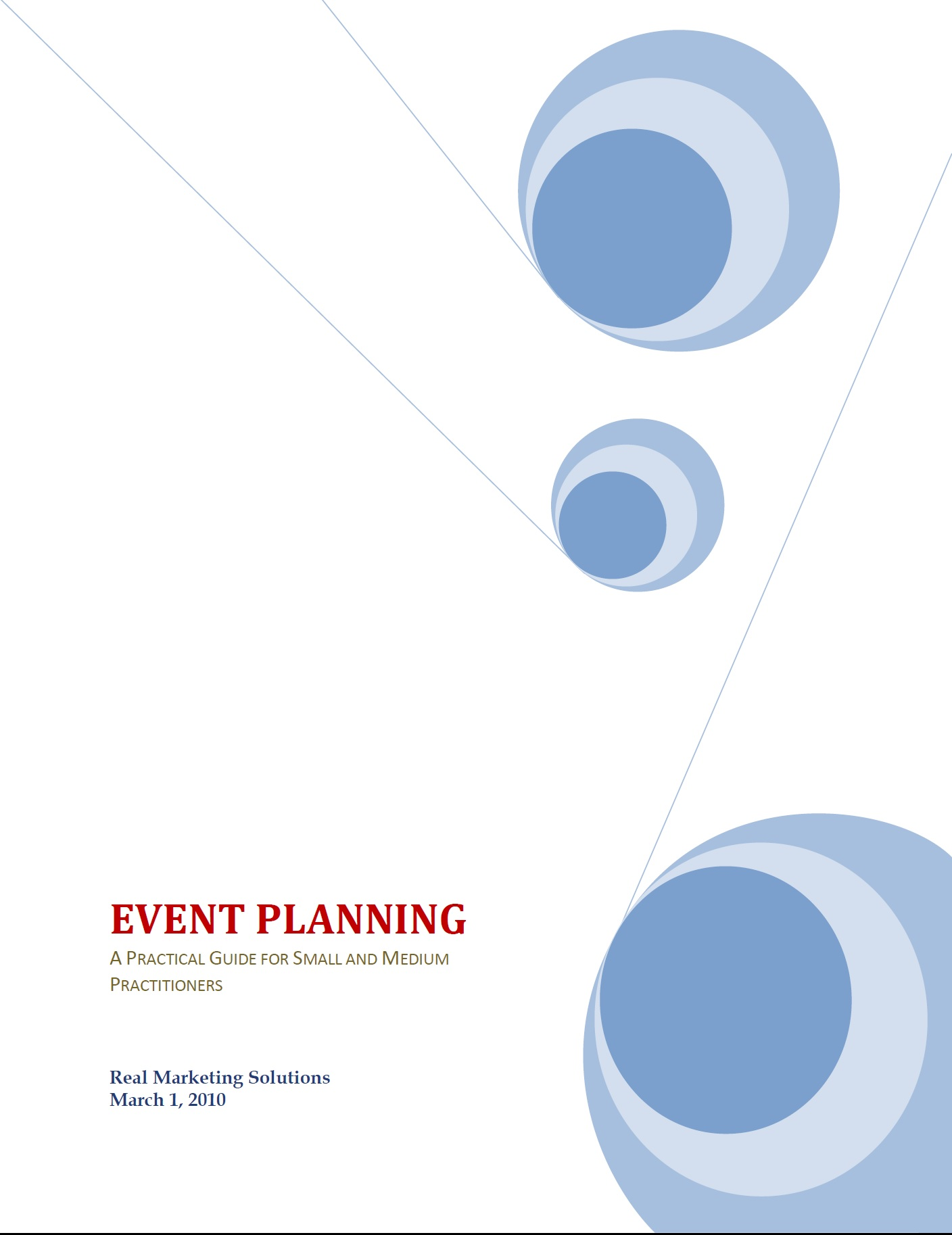Cover of guide with blue circles on white background