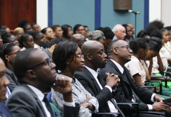 Audience at Adlith Brown lecture