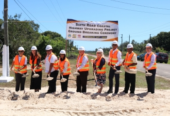 Ground breaking ceremony of the Coastal Highway Upgrading in Belize