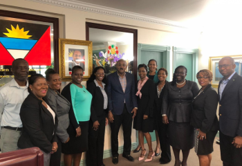 group photo with Prime Minister, the Honourable Gaston Browne