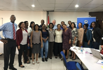 Group photo of participants in the Public Policy Analysis and Management and Project Cycle Management (PPAM/PCM)  training programme in Suriname.