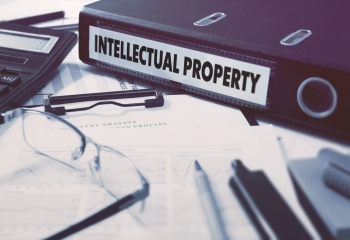folder with label saying intellectual property