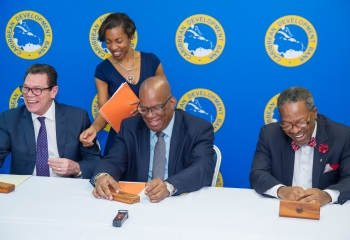 CDB signs grant agreement with the University of Guyana towards construction of library