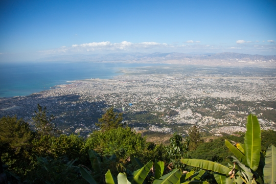 View of Port au Prince Haiti